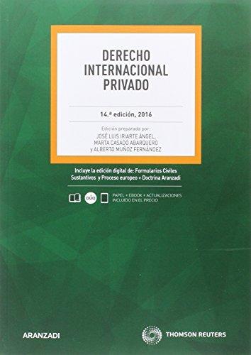 Derecho internacional privado (14ª ed.) 2016 por Aa.Vv.