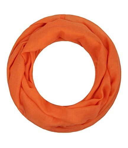 Majea Loop Alice schmaler Damen-Schal Loop Frühlingsschal Schlauchschal Rundschal Tuch uni unisex unifarben einfarbig Halstuch (mandarin) Fashion Unisex Schal