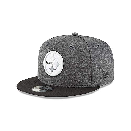 New Era Pittsburgh Steelers 9fifty Snapback NFL 2018 Sideline Home Graphite Graphite - S-M