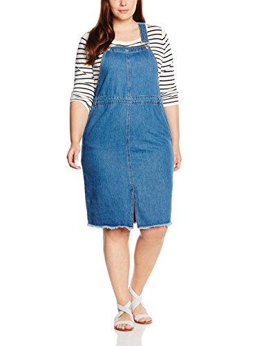 new-look-curves-fray-hem-pinny-vestido-para-mujer-blue-mid-blue-48