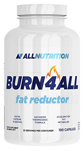 ALLNUTRITION Burn4all Fettburner Fettreduktion Sport Training Bodybuilding (100 Kapseln) -