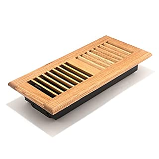Accord AOFROLL410 Floor Register with Oak Louvered, 4-Inch x 10-Inch(Duct Opening Measurements), Light Finish