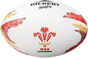 Gilbert Official WRU Strand Rugby Ball 2016/17 - Weiß, EU 32