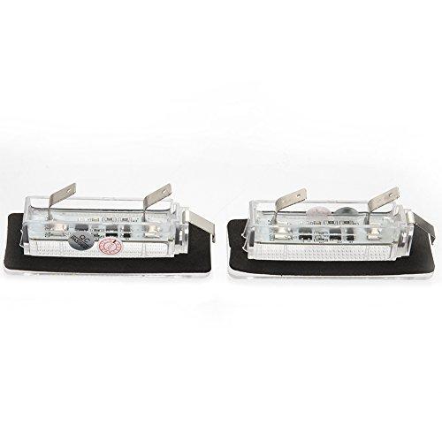 Alftek Juego de 2 luces LED para matr/ícula de coche para Benz Smart Fortwo W450 451 W451 W453 217