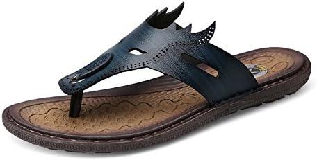 HUAN Zapatos de Hombre Sandalias de Microfibra 2018 Nuevas Sandalias de Confort de Verano Rebordear Para Casual...