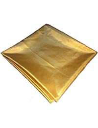 Plain Indo Western Cloth 2.5 Meter Cut Cloth Paper Silk Gold