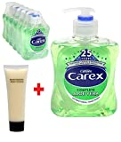 6 Pack Carex Complete Aloe Vera Antibacterial Hand Wash 500ml & Swift Clean® Travel Size Hand Lotion Exclusive by Swift Clean®