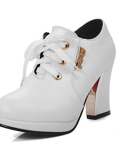 WSS 2016 Chaussures Femme-Bureau & Travail / Habillé / Décontracté-Noir / Rouge / Blanc-Gros Talon-Talons-Talons-Polyuréthane red-us8 / eu39 / uk6 / cn39