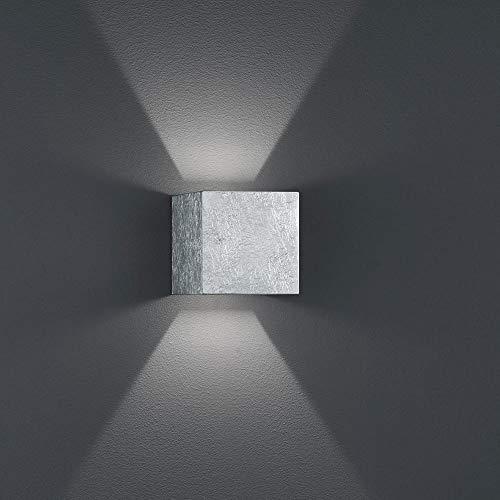 520lm Led-licht (Helestra LED Wand-Außenleuchte Siri 44 IP54 520lm Blattsilber)