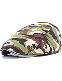 Camouflage Military Newsboy Cap Army Hunting Camo Driving Ivy Gatsby Cotton Hat