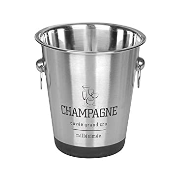 Stainless Steel French Design Champagne Wine Beverage Ice Bucket 2