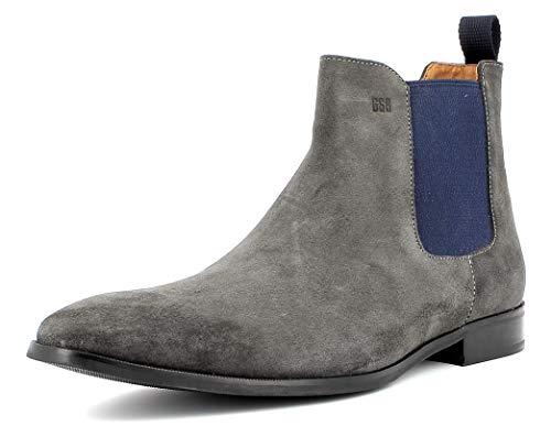 Gordon & Bros Herren Chelsea Boots City S181837,Männer Stiefel,Halbstiefel,Stiefelette,Bootie,Schlupfstiefel,Grey,EU 42