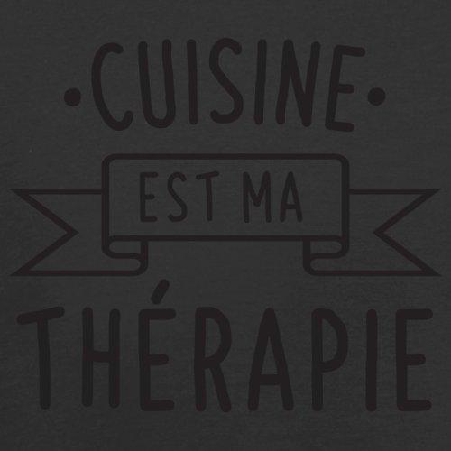 La cuisine est ma thérapie - Femme T-Shirt - 14 couleur Noir