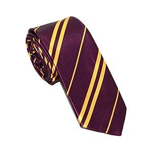 Corbata de colegio para disfraz de niños y adultos, color morado 18
