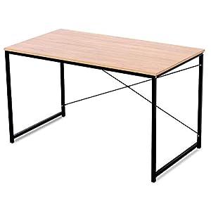 WOLTU TSB04hei Schreibtisch Computertisch Büromöbel PC Tisch Bürotisch Arbeitstisch aus Holz und Stahl, mit Ablage, ca.120x60x70 cm