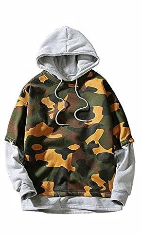 UMilk Herren Camoflauge Hoodies Pullover Camo mit Kapuze Sweatshirts