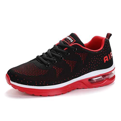 Flarut Unisex Uomo Scarpe da Ginnastica Corsa Sportive Fitness Donna Running Sneakers Basse Interior Air Casual all'Aperto(Rosso,43)