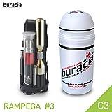 buracia, Kit antiforatura Compatto. Serie RAMPEGA MOD. #3 C3. Officina Tascabile, riparazioni Biciclette Parti di Ricambio. MTB & E-Bike. Compatibile con Tutti i portaborracce. Made in Italy.