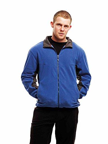 RG568 Optimise Contrast Fleece Jacket Herren Fleece Jacke Black-Seal Grey (Solid)