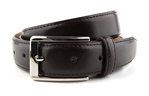 MASSI MORINO Premium Herren Gürtel aus echtem Rindsleder, Ledergürtel in Schwarz oder Braun verfügbar, inkl. Geschenkbeutel (Braun, 95)