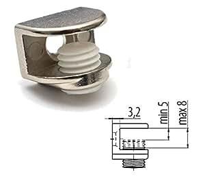 1 x Pince Clip Pour Support Fixation Étagère Glace en Verre