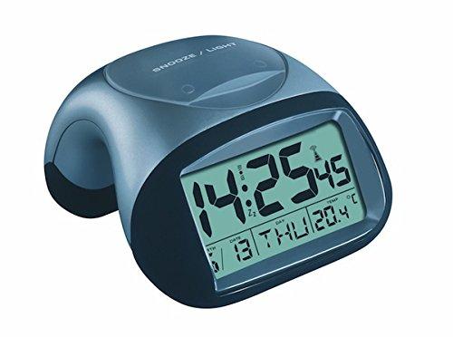 TFA 98.1017 Reloj Despertador Digital con termómetro, Plata