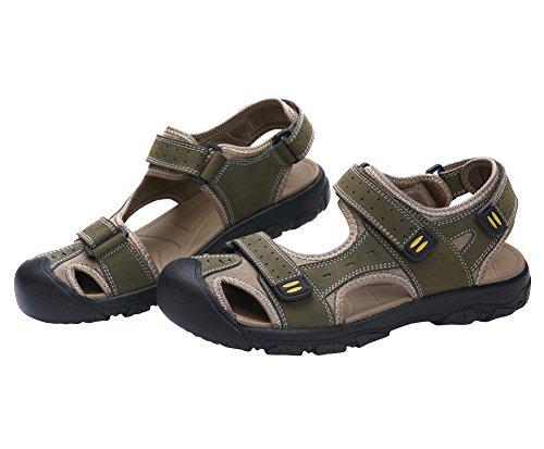Genda 2Archer Männer Outdoor Gehen Velcro Geschlossene Zehen Sandalen Armeegrün