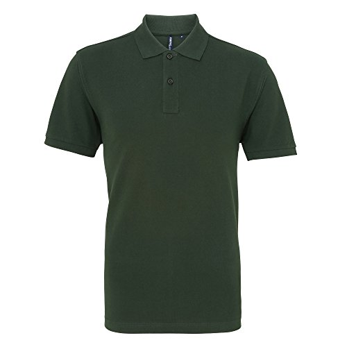 Asquith & Fox Herren Polo-Shirt, Kurzarm Schwarz