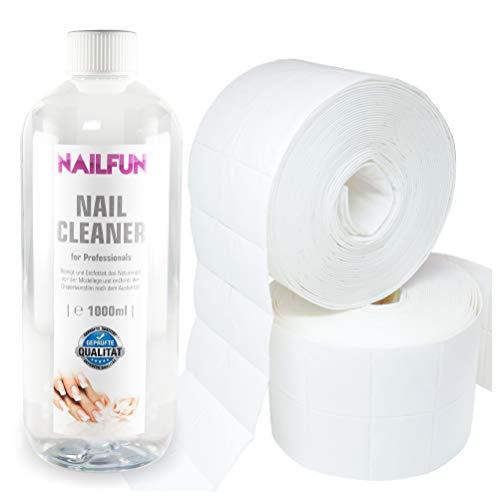 Nail Cleaner 1 Liter = 1000ml + 1000 Zelletten (2 Rollen a' 500 Stück) -
