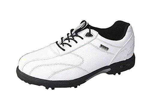Crivit Golf Golfschuhe Nappaleder Leder verschiedene Farben, Schuhgröße:EUR 37, Farbe:weiß/schwarz