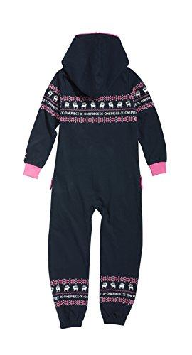Onepiece Mädchen Bekleidungsset Jumpsuit Kids Folklore, Mehrfarbig (Midnight Blue/Pink) Gr. 8-9 Jahre - 2