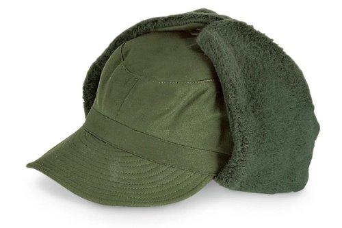 Schwedische Winter Uschanka, chepka, Winter Trapper Hat, grün, 58