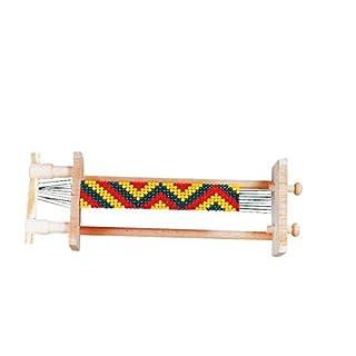 Perlenwebrahmen aus Holz, 31x12cm [Spielzeug]