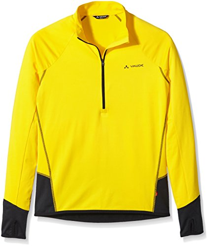 Vaude Livigno Sweat-shirt 1/2 zip Homme Indian Jaune