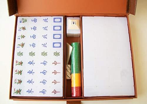 MLX Mahjong Chino, Tarjeta de Mahjong for el hogar, Dormitorio/Mahjong portátil for Viajes, Juego de Cartas de ajedrez en la Mesa, 3.8 * 2.8 * 2.1CM
