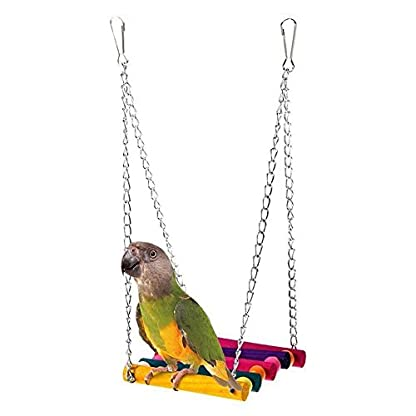 Nmber-mm Parrot Swing Toy Hanging Stairs Suspension Bridge Swing Standing Stand Stand Bird Cage Accessories 1