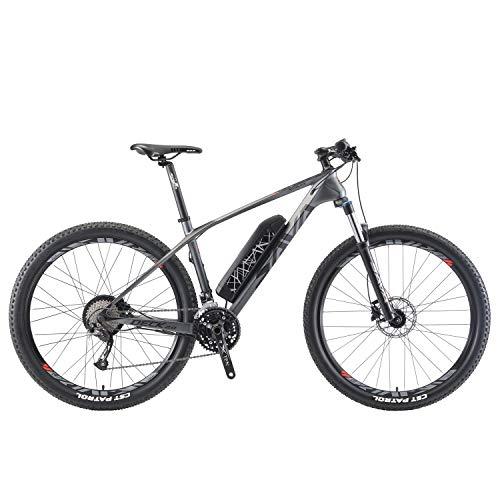 SAVADECK e-Bike, Bicicleta eléctrica Knight 3.0 con Cuadro de Carbono E-MTB...
