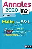 Annales ABC du Bac 2020 Maths Term ES-L...