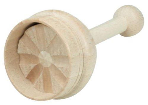Hofmeister Holzwaren Butterdurchstoßform, 20 Gramm, einfach, aus Buchenholz