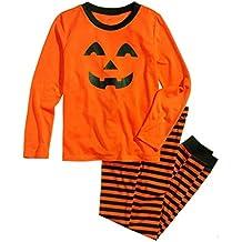 ... Traje de Madre Conjunto de Pijamas de Madre de Familia de Calabaza de Halloween Conjunto de Pijamas de Noche a Rayas del Halloween Traje de Padre e Hijo ...