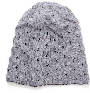 Alamor Unisex Winter Warm Skull Knit Beanie Cap Dual Wearable Männer Frauen Reiten Ski Hut-Grau (Skull Knit Beanie)
