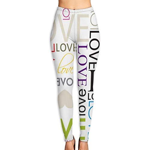 Irener Yoga-Hosen-Sport-Trainingsgamaschen Love Heart Shape Womens Fitness Yoga Leggings for Sport Capri Yoga Pant(S-2XL)