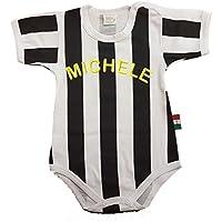 Zigozago - Body Spielanzug Baby mit schwarzen weißen Streifen - 100% Baumwolle