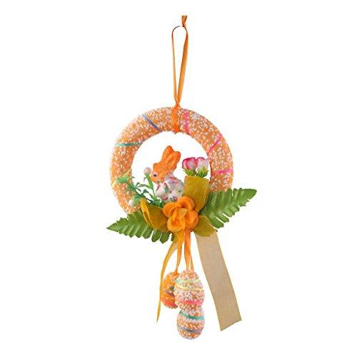 Cikuso easter bubble emulation egg ornament rabbit hanging party home gift schiuma di schiuma di pasqua (arancione)
