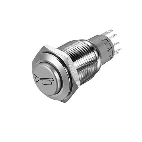 WINOMO 12 V 16mm LED Beleuchtung Ein/Aus-schalter Reset Schalter Taste Metall Momentary Push Button Horn Schalter Auto Boot Motorrad DIY Schalter -