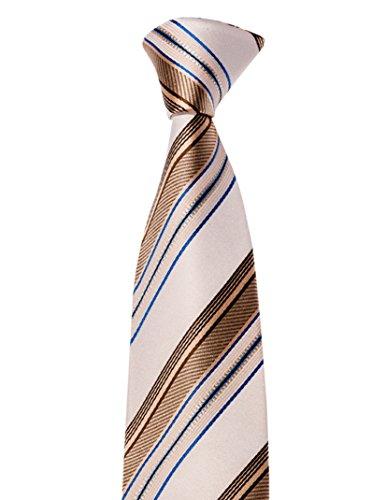 Krawatte von Mailando, mit Streifen, sehr elegant, braun - gold