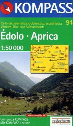 Carta escursionistica n. 94. Edolo, Aprica 1:50.000