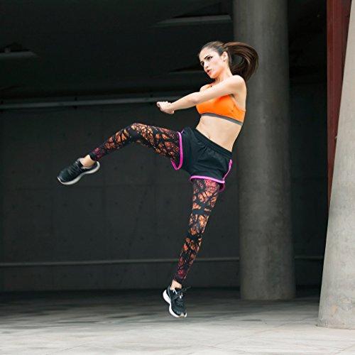 JIMMY DESIGN Damen Printed Sporthose Leggins – Funk Kunst - 8