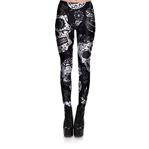 YEZIJIANG Große Größe Sport Yoga Hosen Damen Leggings Hohe Taille Blumenmuster Gedrucktes Hüfthose Strumpfhose Leggings Hose Strumpfhose Workout High Elastic Pants S-4XL