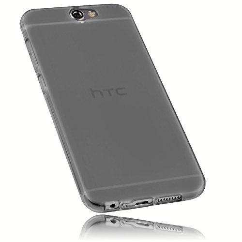 mumbi Schutzhülle für HTC One A9 Hülle transparent schwarz
